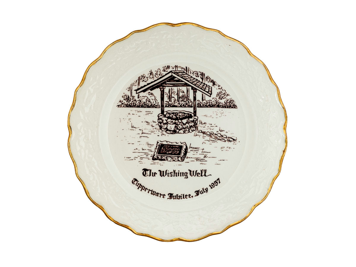Photograph of Commemorative Tupperware Jubilee Plate, 1957