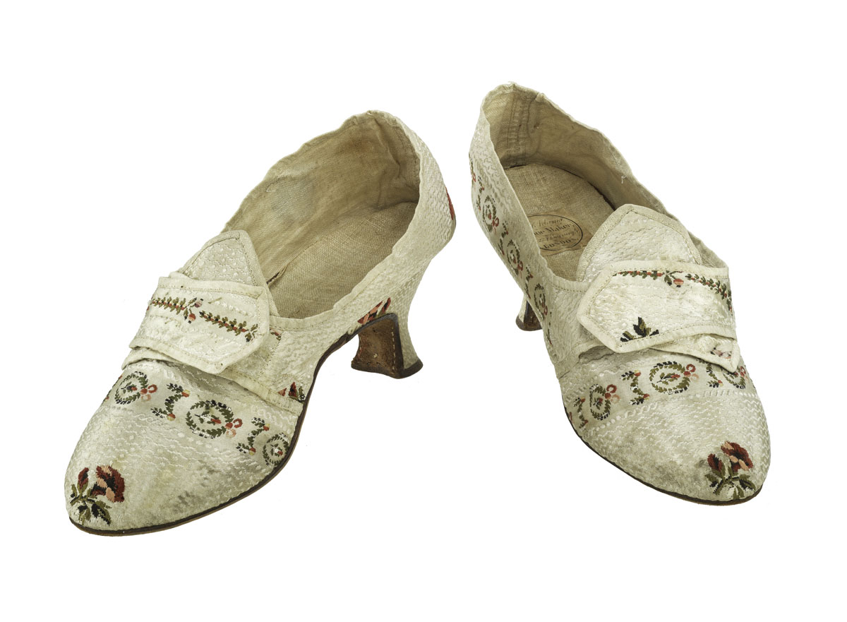 Photograph of colonial shoes