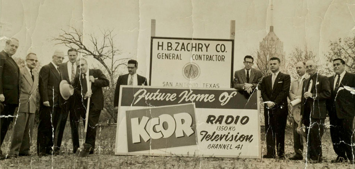 Photograph of KCOR station groundbreaking, 1954