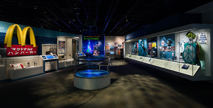 Photograph of the exhibition's Global Era section
