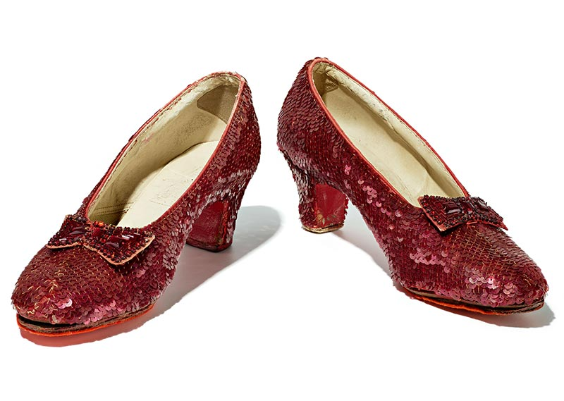 Sequined costume shoes