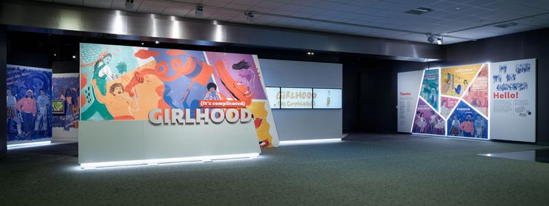Entrance to the Girlhood: It's complicated exhibition