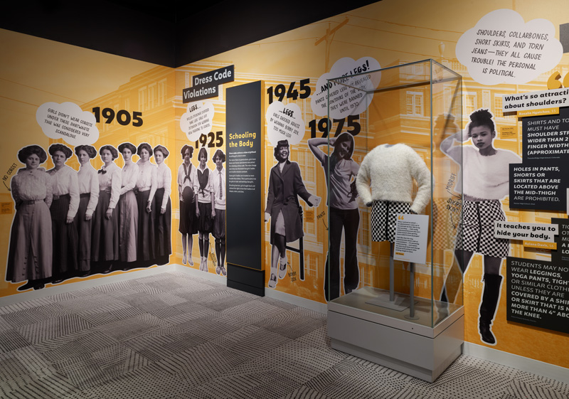Case focused on girls' uniforms in Girlhood: It's complicated exhibition