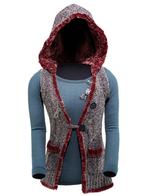 Costume with shirt, vest, and hood
