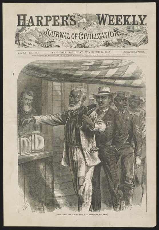 """First Vote,"" Harper's Weekly"