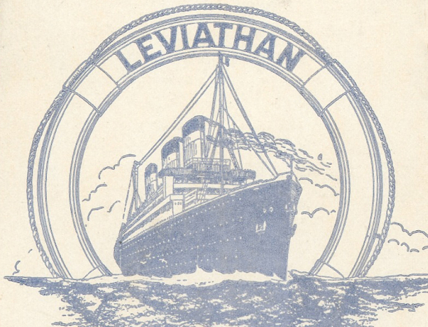 A model of the Ocean Liner Leviathan