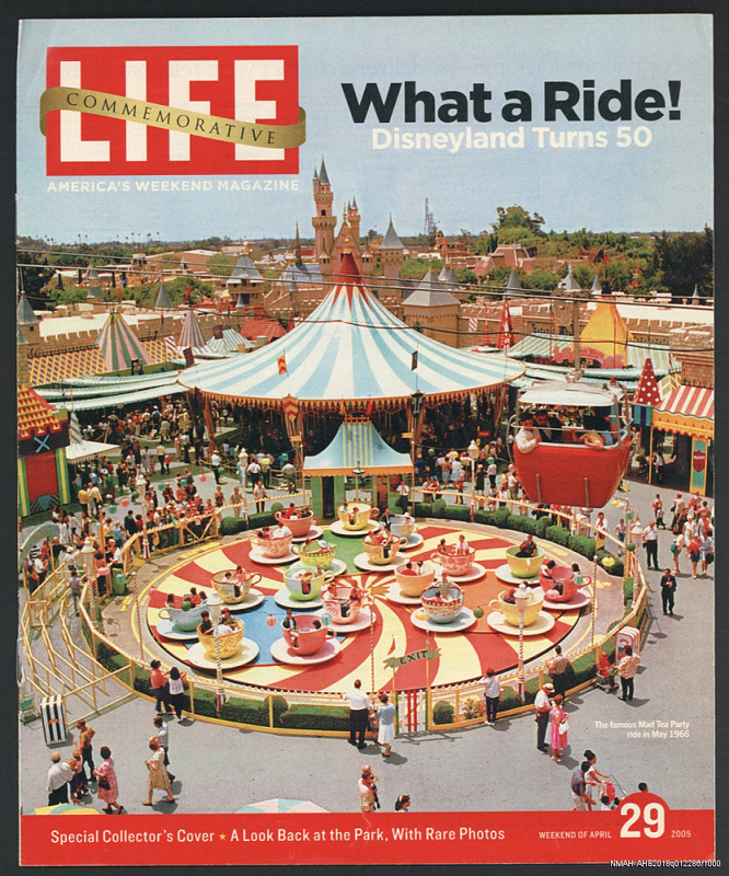Life magazine with Disneyland on cover