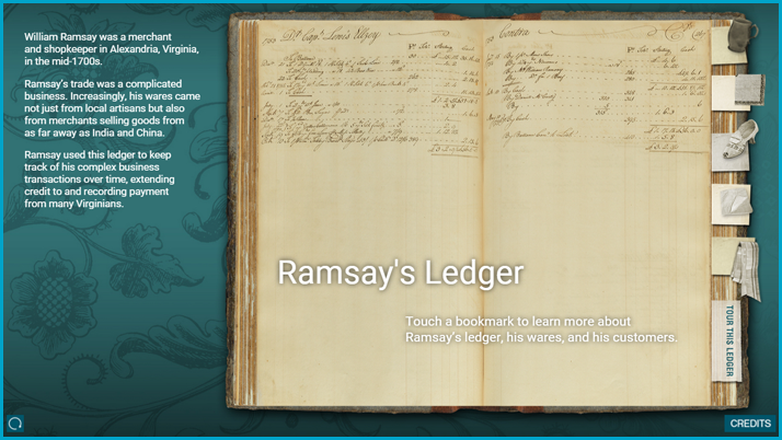 Screenshot of the Ramsay ledger interactive display