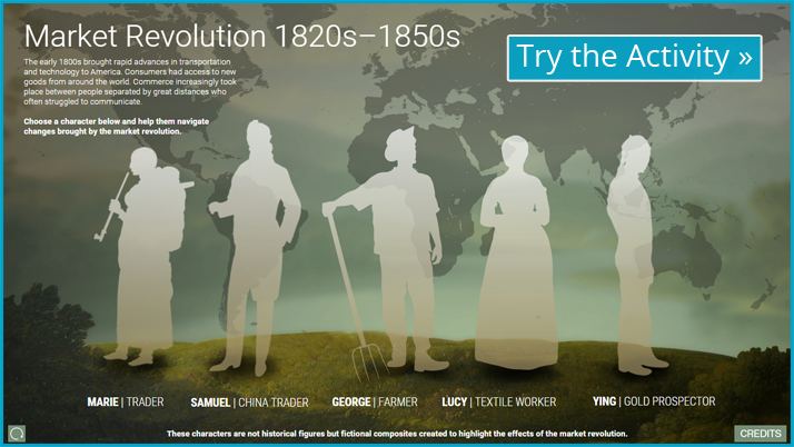 Screenshot of the Market Revolution interactive display