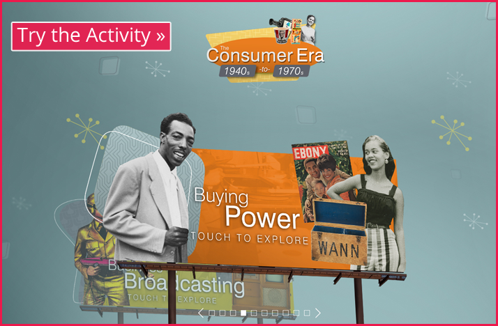 Screenshot of the Consumer Era Table interactive