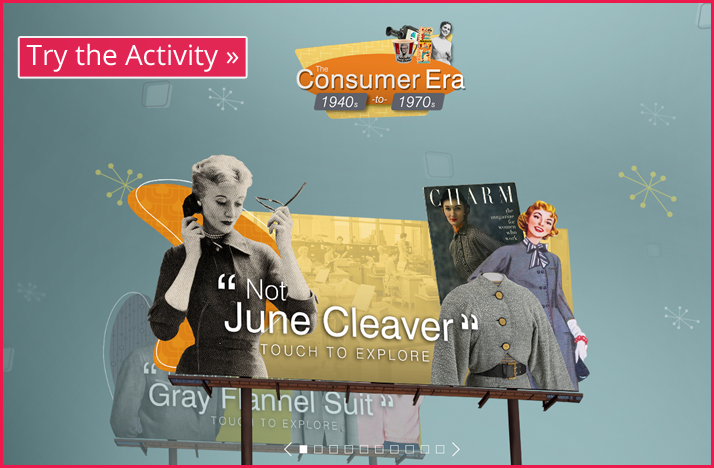 Screenshot of the Consumer Era Table interactive