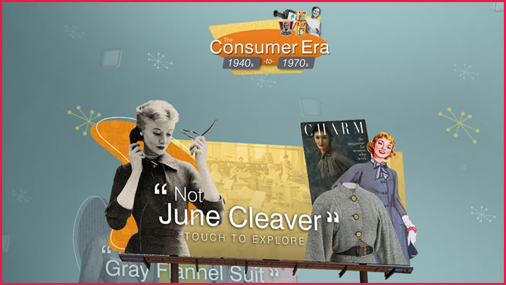 Screenshot of the Consumer Era interactive display