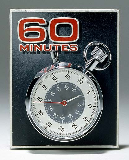 Stopwatch featured on the television program 60 Minutes