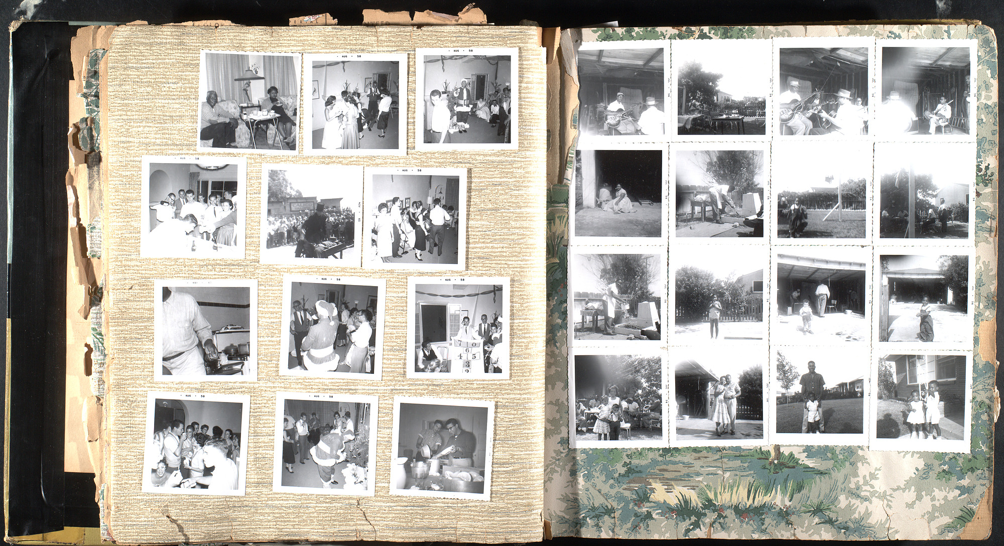 Black and white photo album