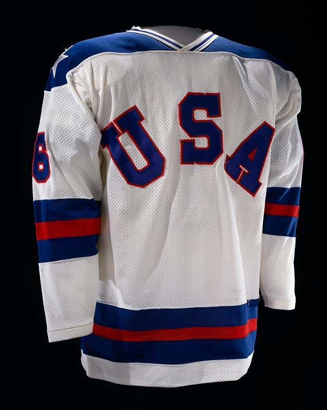 Hockey jersey with lettering USA