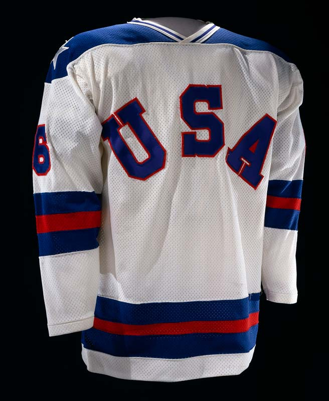 Hockey jersey with printed text 'U S A'