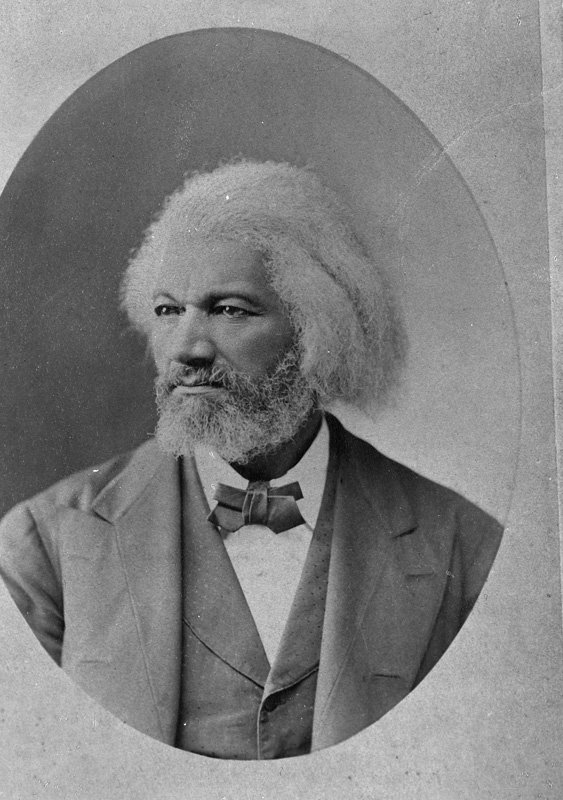 Half portrait of Frederick Douglass