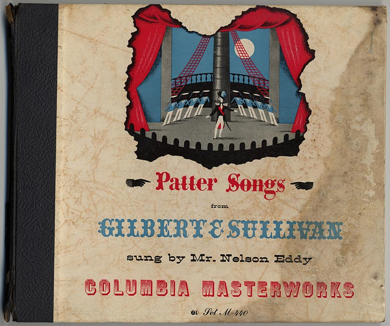 Album cover, Patter Songs from Gilbert and Sullivan