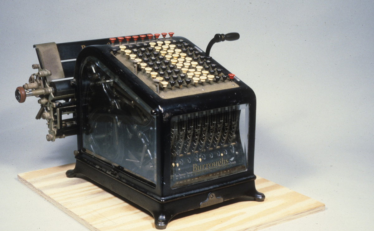 A machine with many numerical buttons.