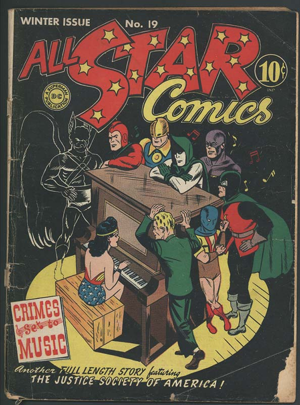 Comic book cover titled All Star Comics, Winter issues No. 19