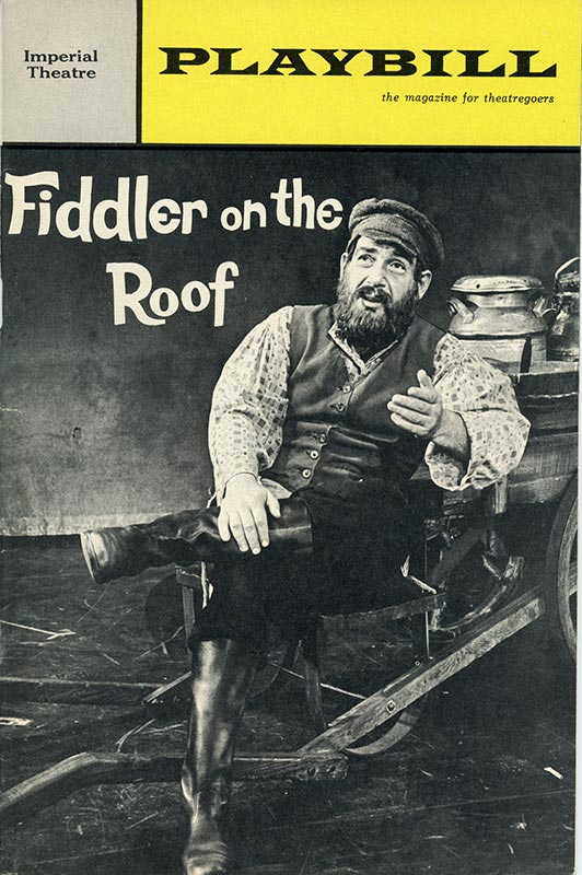 Program cover showing actor on stage
