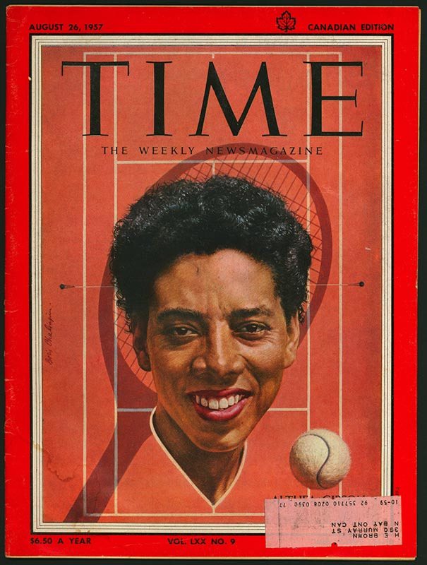 TIME magazine cover depicting Althea Gibson