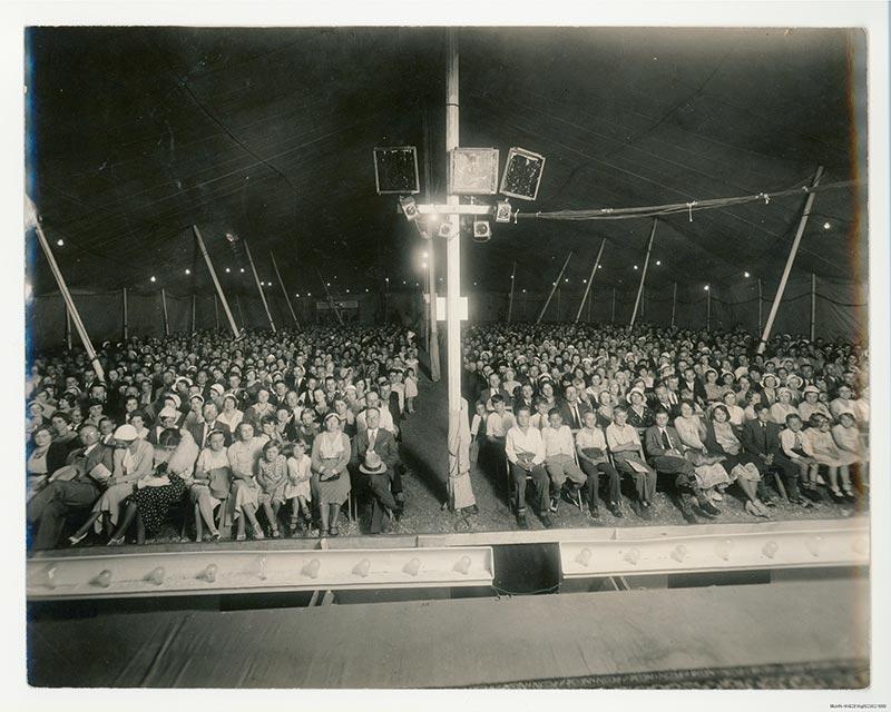 Looking toward an audience