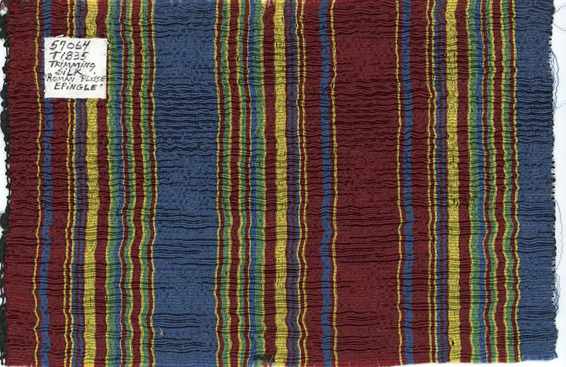 Piece of colorful striped fabric