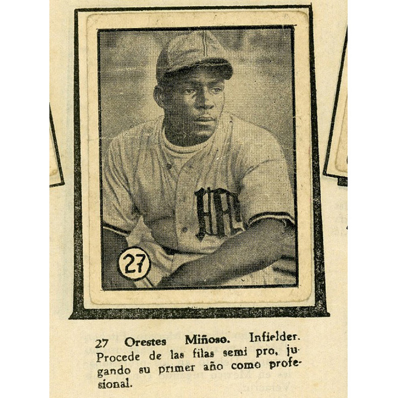 "Orestes ""Minnie"" Miñoso baseball card"