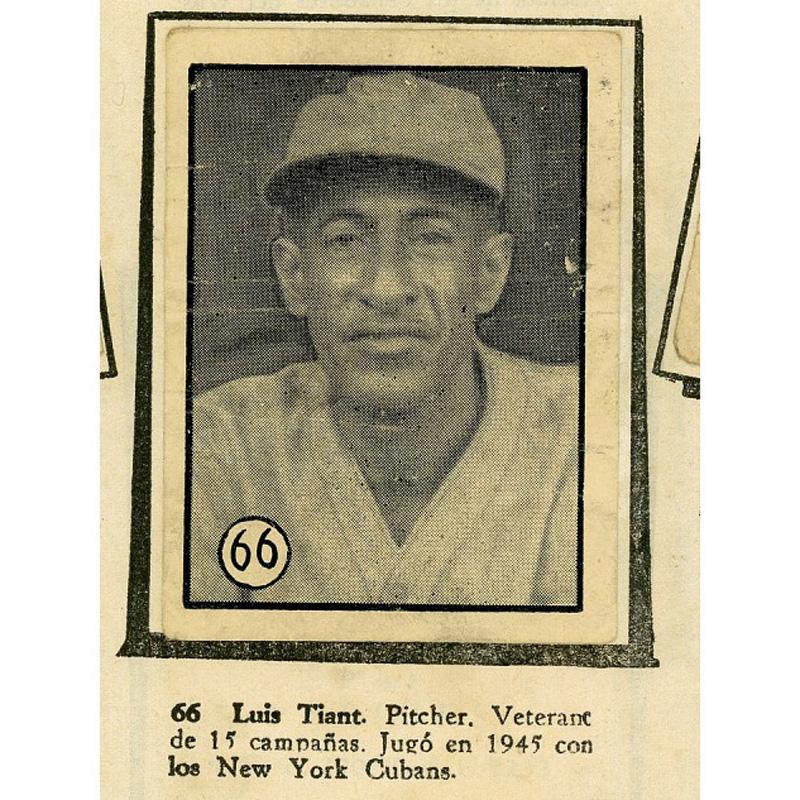 "Luis ""Lefty"" Tiant Sr. baseball card"