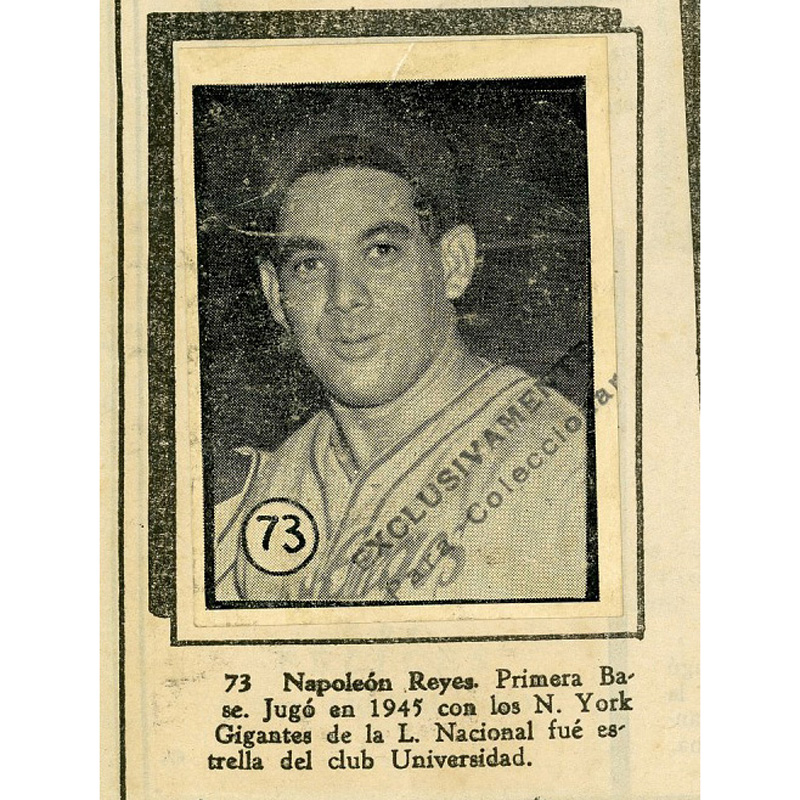 Napoleón Reyes paper baseball card