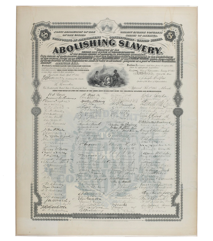 Thirteenth Amendment print, 1868
