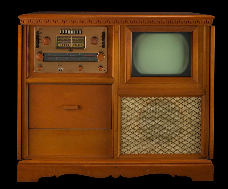 Early television set