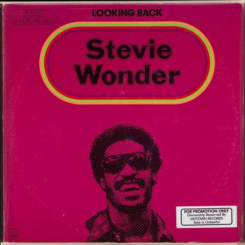 Album cover, 'Looking Back' by Stevie Wonder