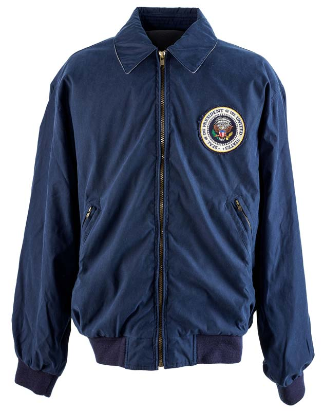 Blue jacket with presidential seal