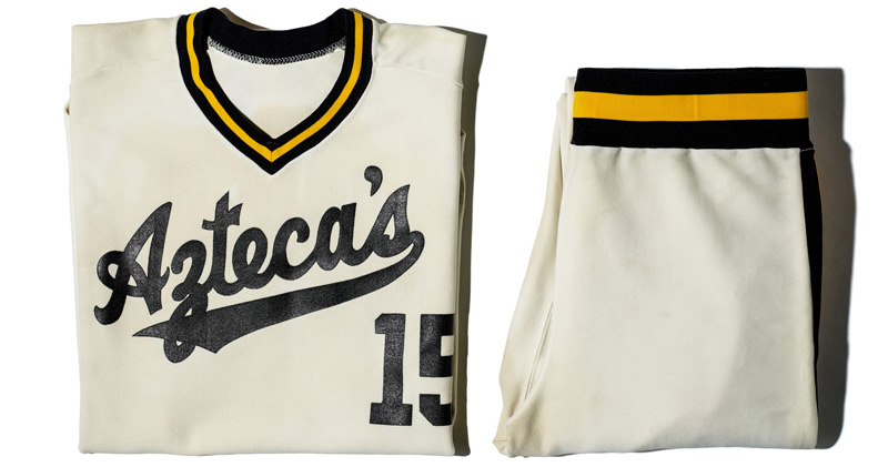Kansas City Aztecas jersey and pants, showing the team's name and player number 15