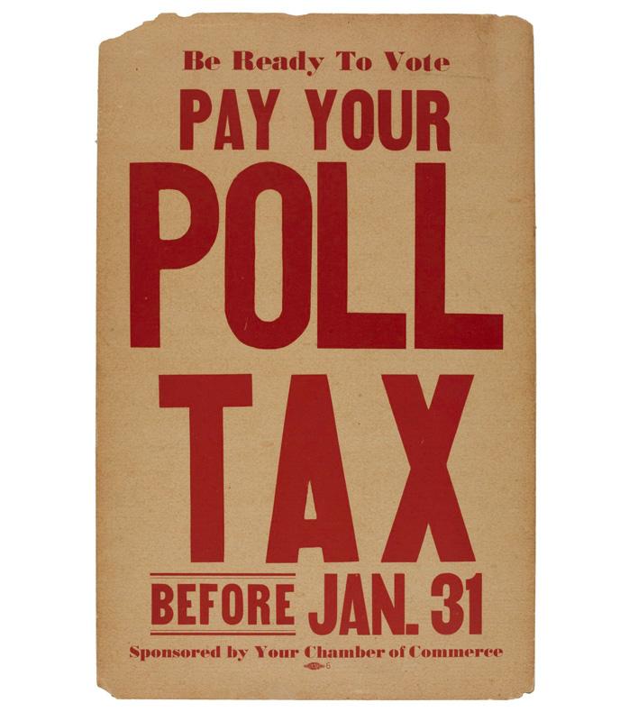 Poll tax sign