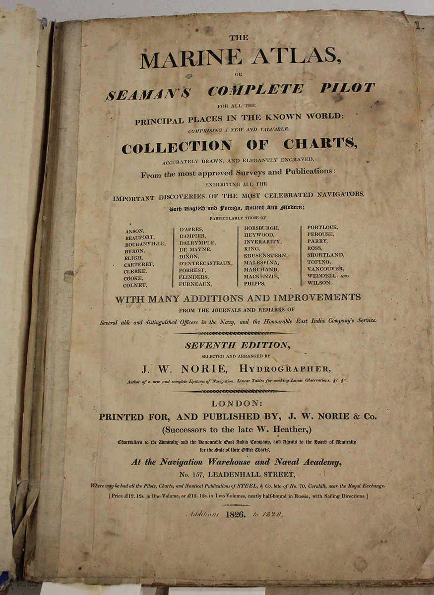 The Norie Marine Atlas table of contents