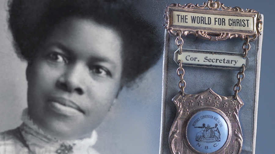 Still from video series showing Nannie Helen Burroughs