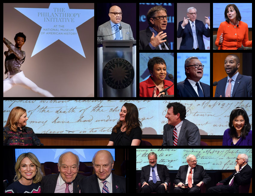 A collage of previous Power of Giving program speakers