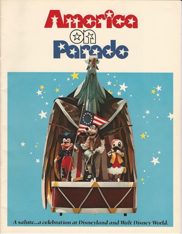 Book cover showing Disney characters playing a fife, waving a flag, and playing an improvised drum