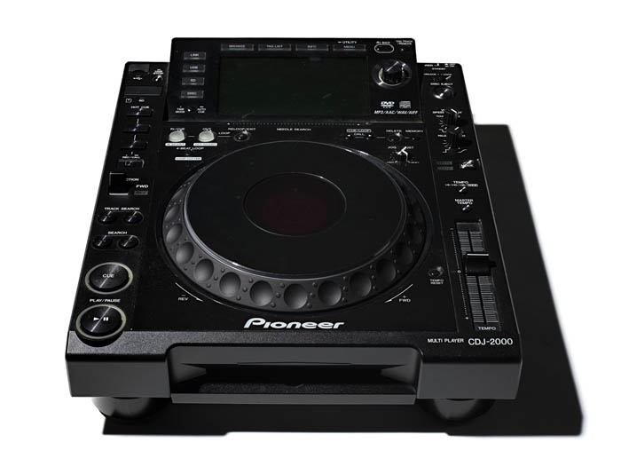 A piece of black DJ equipment