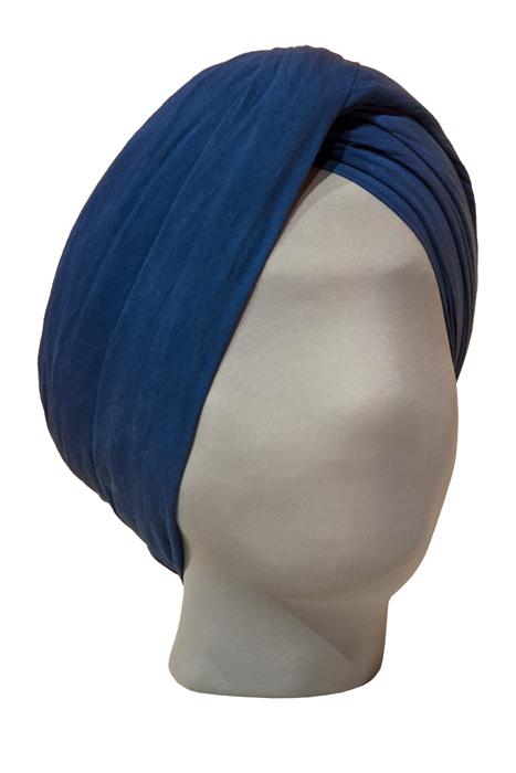 A blue turban