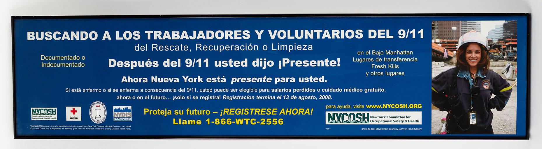 First responder Ivonne Coppola Sanchez's subway advertisement