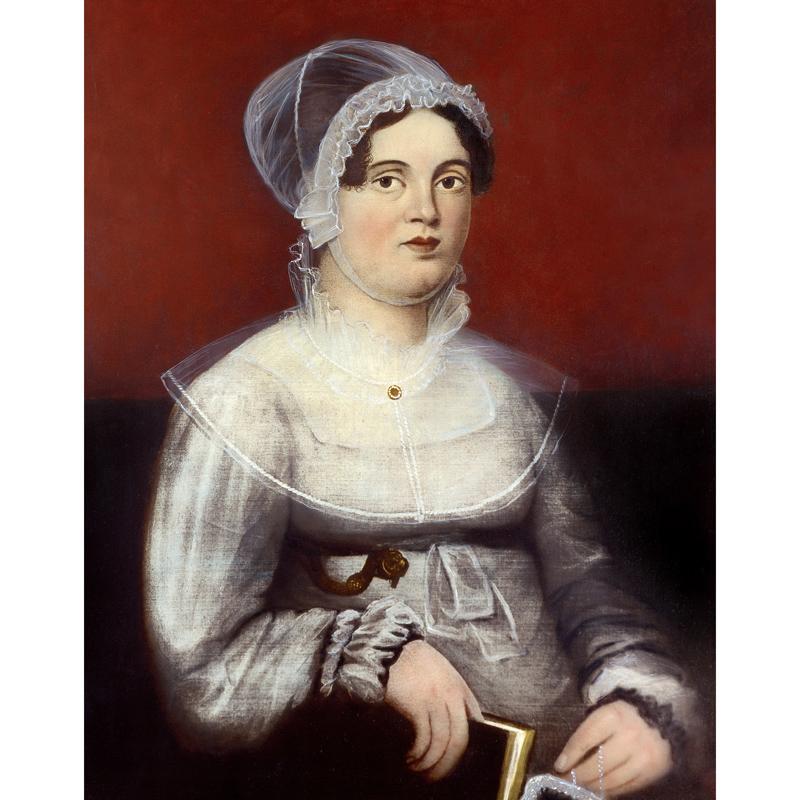 Oil painting of Rebecca Lukens