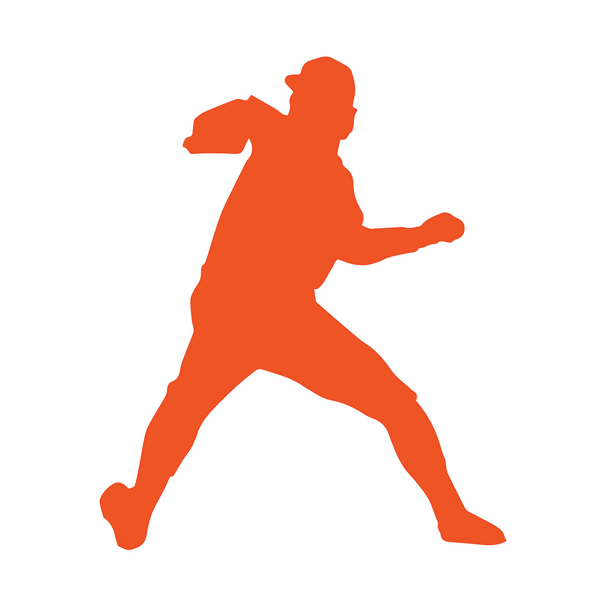 Silhouette of baseball player pitching