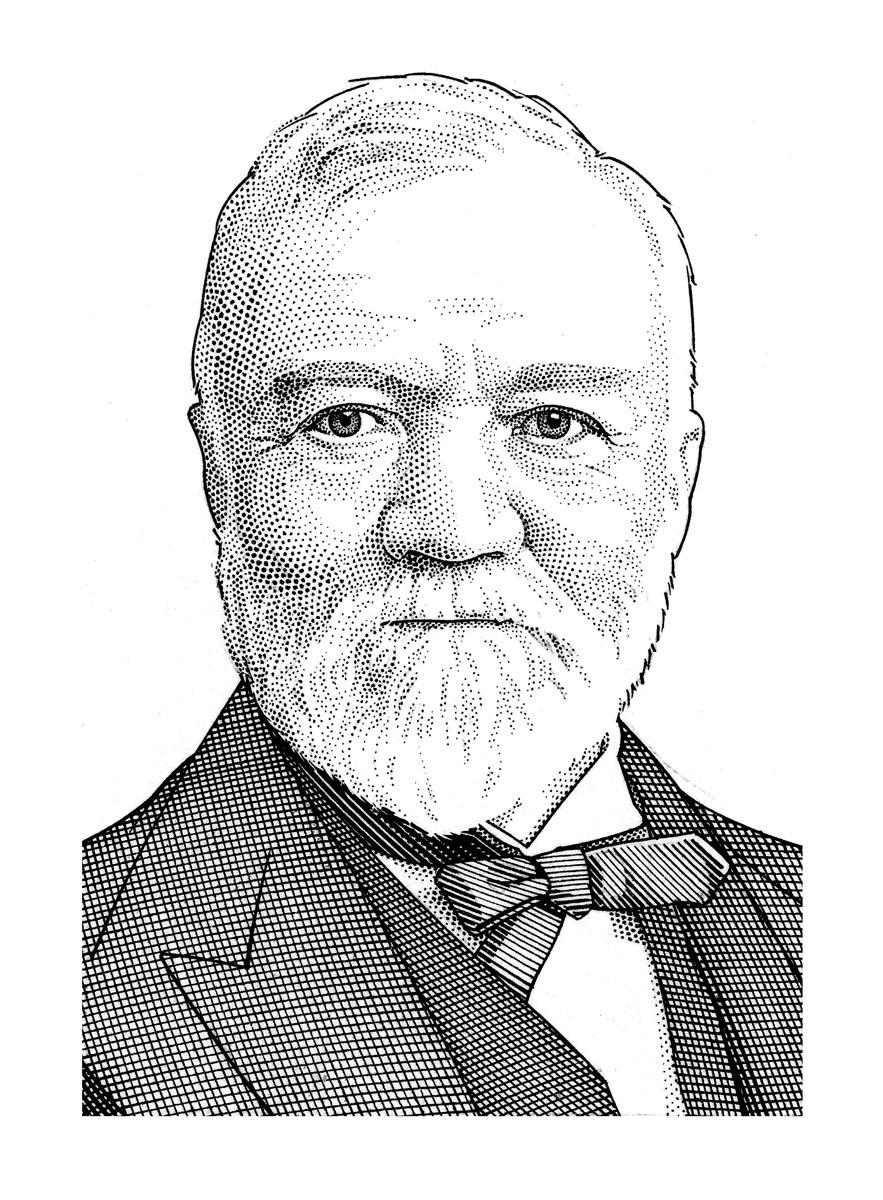 Sketch ofAndrew Carnegie