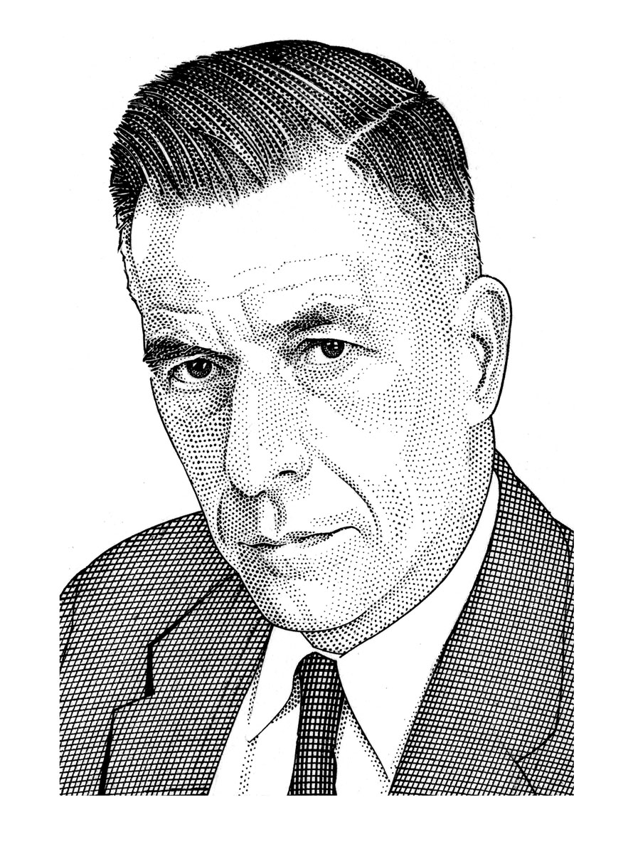 Sketch of John Kenneth Galbraith