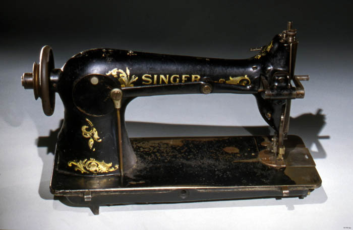 A black singer sewing machine