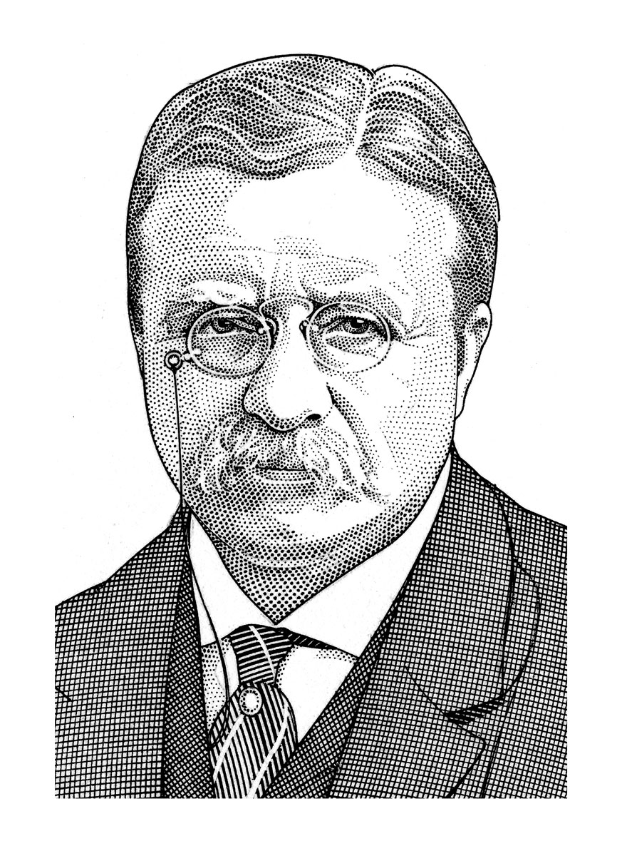 Sketch of Theodore Roosevelt